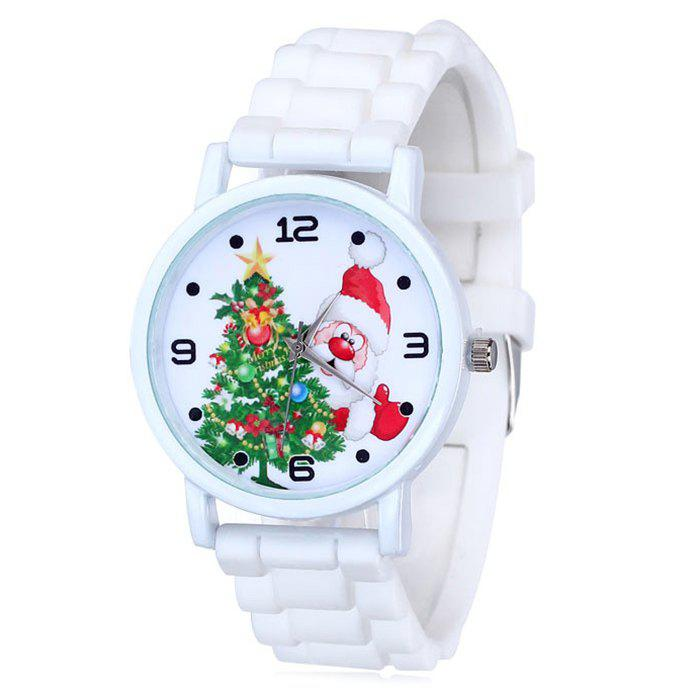 Buy Christmas Tree Santa Face Silicone Strap Watch