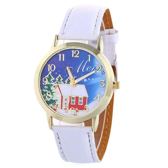 Trendy Christmas Tree House Face Quartz Watch