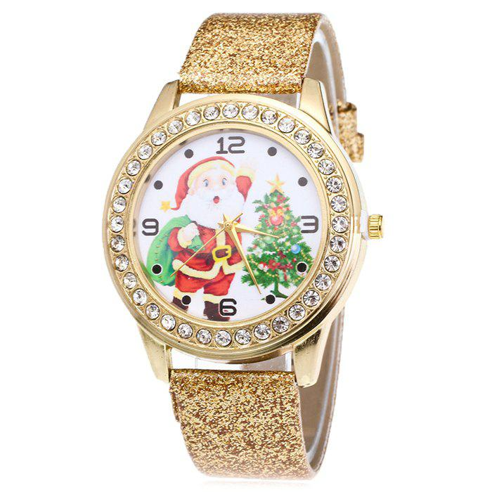 Shops Glitter Strap Christmas Santa Tree Face Watch