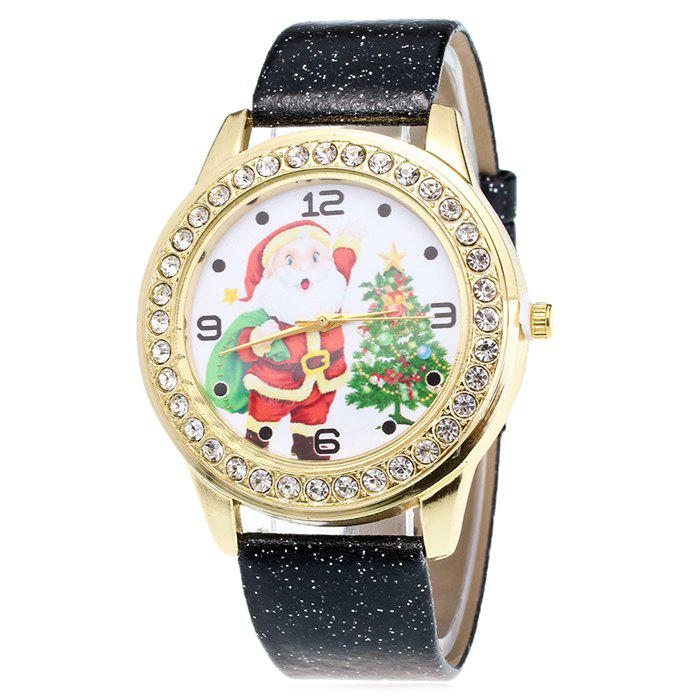 Buy Glitter Strap Christmas Santa Tree Face Watch