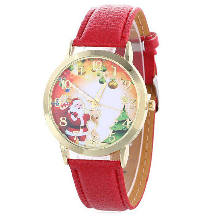 Cheap Christmas Santa Baubles Face Quartz Watch