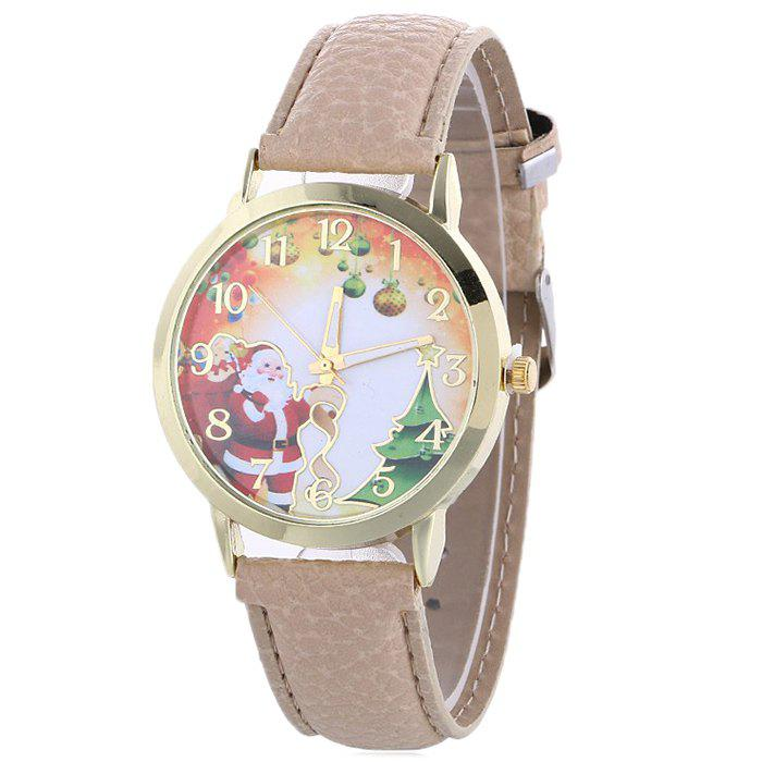 Fashion Christmas Santa Baubles Face Quartz Watch