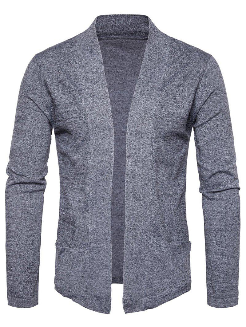 Fashion Pockets Knitted Open Front Cardigan
