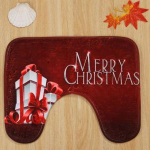 Ensemble de tapis de toilette 3 pcs Christmas Gift Print Bath -