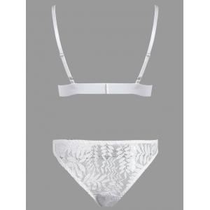 Ensemble de bralette en dentelle triangulaire -
