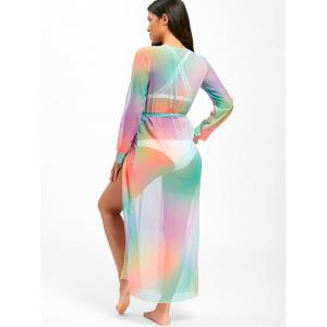 Ombre Maxi Cover Up Dress - COLORMIX S
