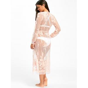 Wrap Lace Cover Up Dress - PINK M