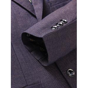 Lapel Single Breasted Formal Blazer - PURPLE 3XL