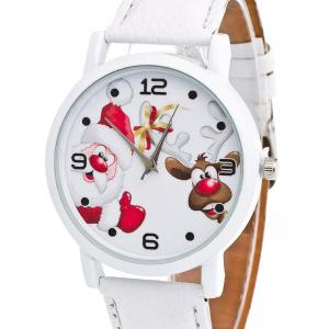 Christmas Santa Deer Face Quartz Watch -
