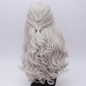 Perruque Long Ondé Tresse Synthétique Game of Thrones Cosplay Daenerys Targaryen -
