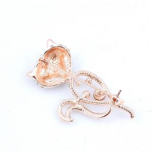 Broche de renard raide et brillant -