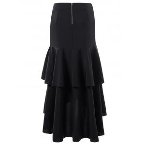 Martina Flounced Maxi Skirt - BLACK M