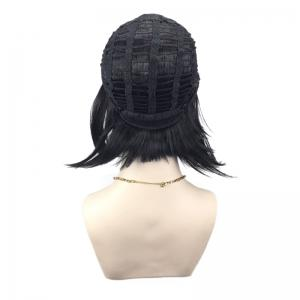 Full Straight Straight Short Inverted Bob perruque synthétique -
