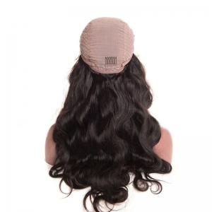 Free Part Bouffant Long Body Wave Lace Front Synthetic Wig - NATURAL BLACK