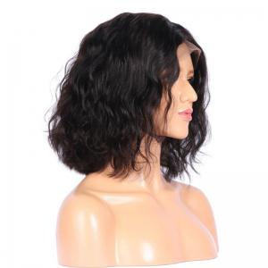 Partie moyenne Shaggy Medium Natural Ondulé Lace Front perruque synthétique - Noir