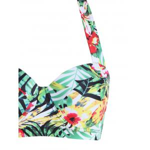 Tropical Floral Plus Size Bikini Set - COLORMIX 2XL
