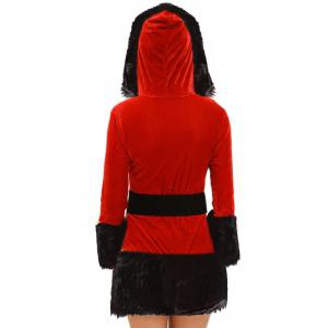 Christmas Costume with Faux Fur Trim -