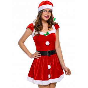 Velvet Christmas Costumes - RED ONE SIZE