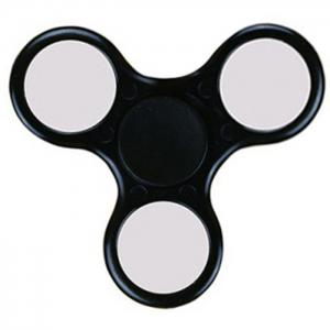 Fiddle Toy Plastic Tri-bar Fidget Spinner - BLACK