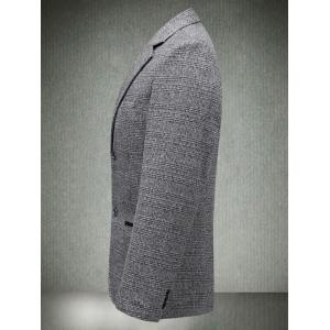 Casual Lapel Single Blaster Plaid Blazer - Gris L
