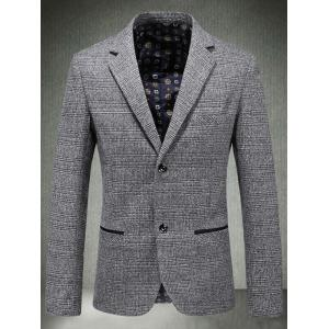 Casual Lapel Single Blaster Plaid Blazer -
