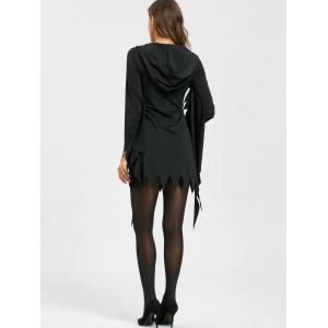 Halloween Serrated Edge Mini Hooded Dress -