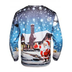 Christmas Santa House Pullover Sweatshirt - COLORMIX 3XL