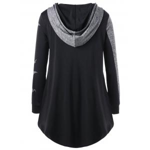 Halloween Plus Size Two Tone Tunic Hoodie -