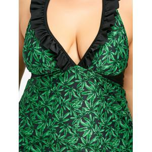 Ensemble Tankini à contour Ruffled Plus Size -