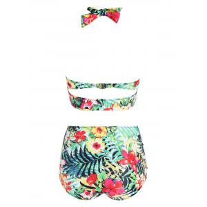 Tropical Floral Plus Size Bikini Set -