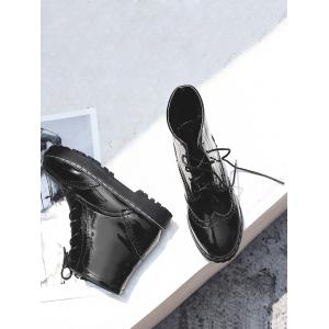 Ankle Lace Up Wingtip Boots -