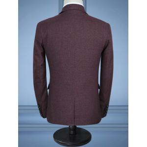 Contrast Chest Pocket Three-piece Business Suit -