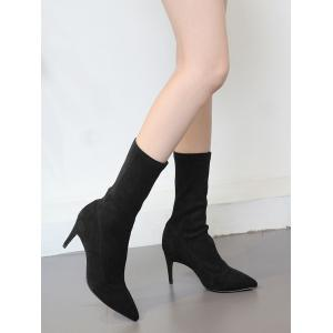 Mid Calf Pointed Toe Stiletto Boots -