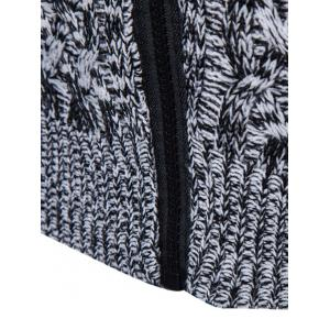 Knit Blends Turtle Neck Zip Up Sweater -