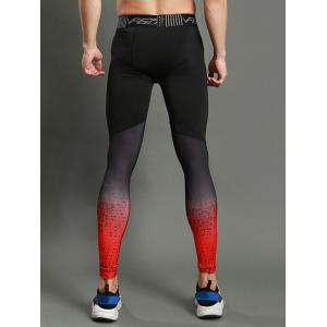 Dots Paint Dip Dye Stretch Skinny Athletic Pants -