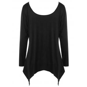 Halloween Plus Size Monochrome Scoop Neck Top -