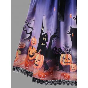 Halloween Plus Size Bowknot Decorated 50s Swing Dress -