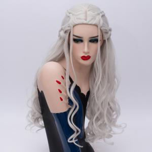 Long Wavy Braids Synthetic Game of Thrones Daenerys Targaryen Cosplay Wig -