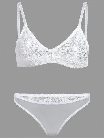 Buy Triangle Lace Bralette Set WHITE S