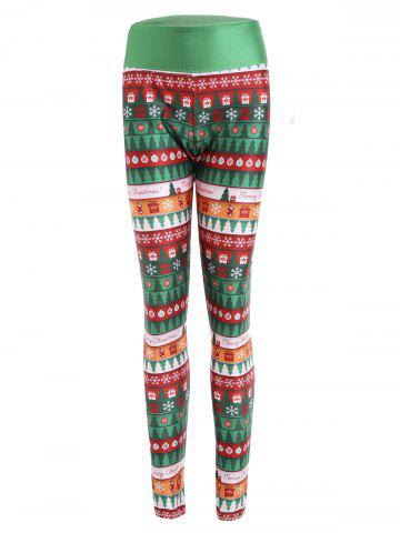 Latest Christmas Print Wide Waistband Fitted Leggings