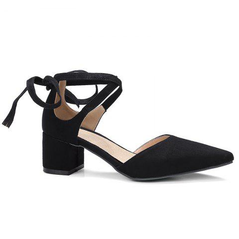 Hot Ankle Strap Two Pieces Pointed Toe Pumps