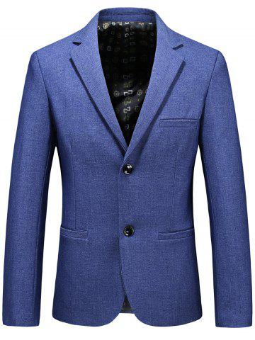 Store Lapel Single Breasted Formal Blazer - M BLUE Mobile