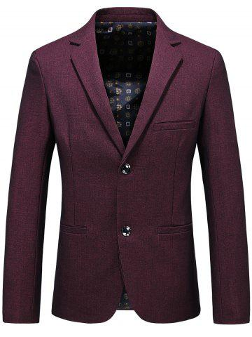 Best Lapel Single Breasted Formal Blazer - 3XL PURPLISH RED Mobile