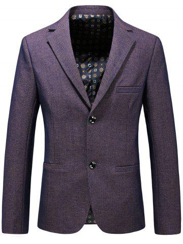 Fashion Lapel Single Breasted Formal Blazer PURPLE 3XL
