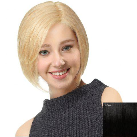 Outfit Side Parting Short Straight Bob Human Hair Lace Front Wig