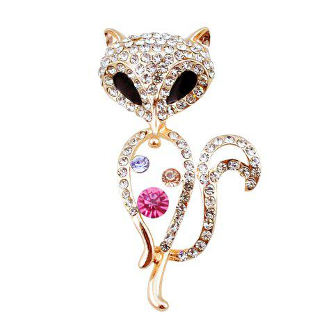 Broche de renard raide et brillant