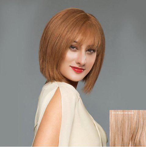 Perruque à perruque blonde Bob 30/613# Brown Avec Blonde