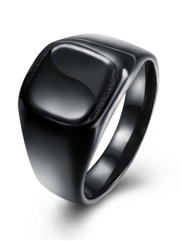 Fancy Alloy Geometric Vintage Finger Ring - 7 BLACK Mobile