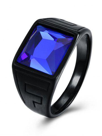 New Faux Sapphire Geometric Vintage Ring