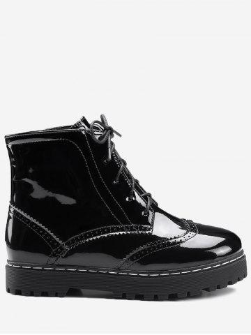 Hot Ankle Lace Up Wingtip Boots